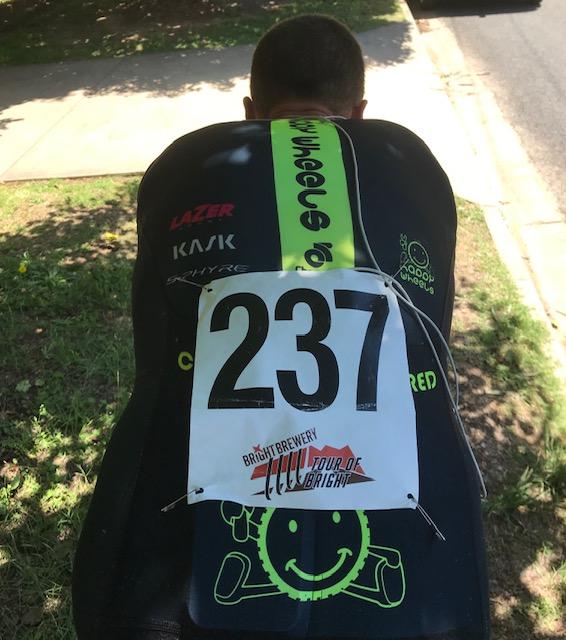 Tour of Bright 18 @ 30 Nov - Declan Jones (BiciSport Happy Wheels) during the ITT warm up at Porepunkah