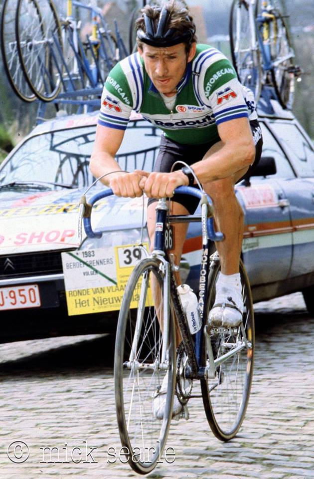 Tour of Flanders 1983 - Paul Sherwin riding for the La Redoute Motobecane professional team