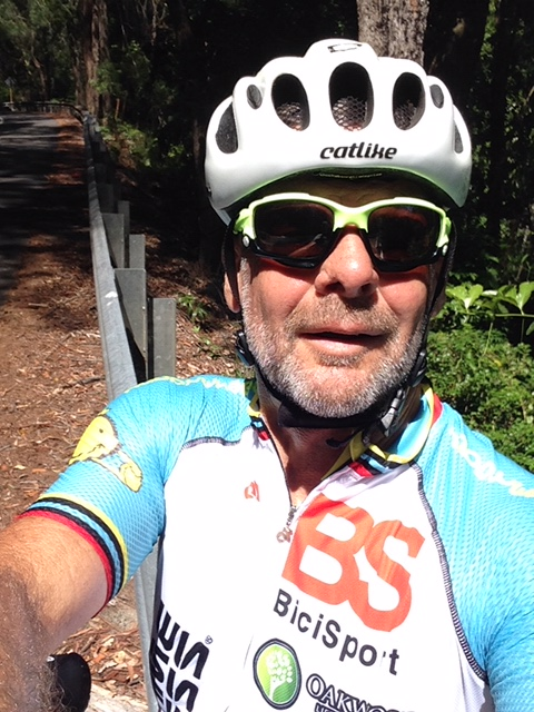 BiciSport  Fashionista  Marty Wright sighted on McCarrs Creek Rd last week near Church Point in the new BiciSport white-blue summer training kit. Orders are now being taken for the next clothing delivery in just 4 weeks - simply email bicisport1@gmail.com