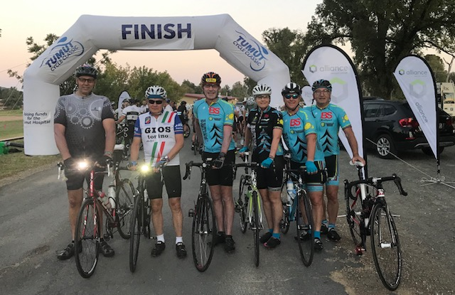 BiciSport starters at the Tumut Cycle Classic @ 13 January - L to R .. Michael Taylor, Melissa Budd, Peter Budd & Mike O'Reilly