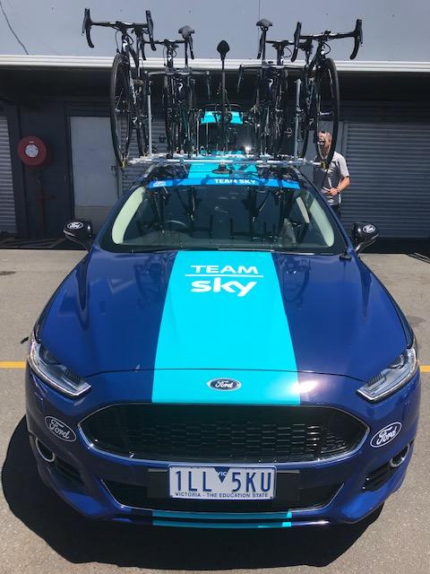 HST 19 @ Wednesday @ Phillip Island - the Sky Team car presents well