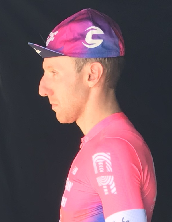 HST 19 @ Friday @ Warragul finish - a seemingly pensive Michael Woods had a lot to smile about after an outstanding 160k stage into Warragul.