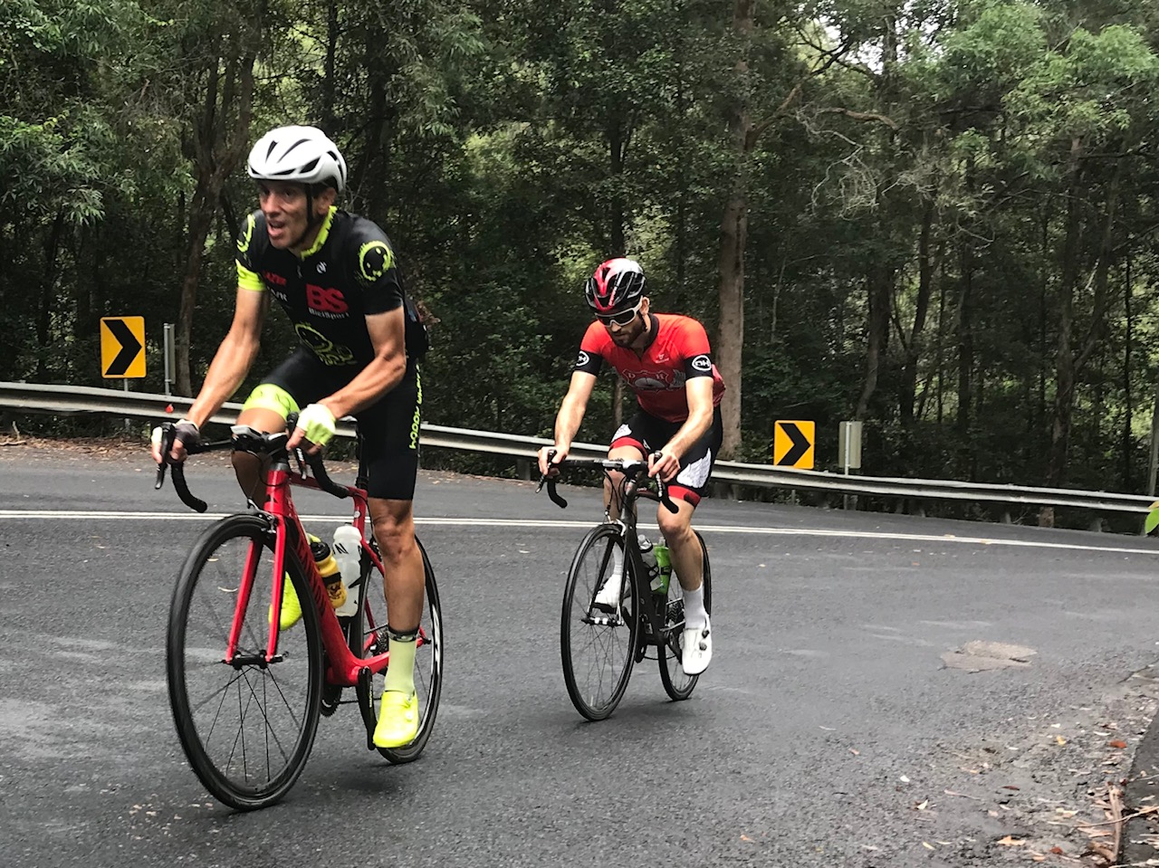 BiciSport Wisemans Loop @ 24 Feb - Randolph Baral (BiciSport Happy Wheels) on the steep 10% section of the Alpe del la Mangrove Mountain climb