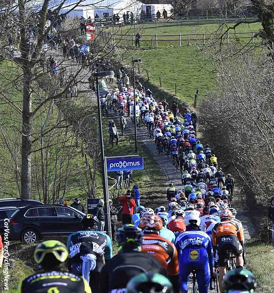 …. no more fluff & pointless training races in isolated parts of the cycling realm be it in Ballarat, Adelaide or some other obscure Middle Eastern enclave. Welcome to the real deal in Belgium with cobbles, leg warmers, true grit, frites & mayo, and 1,000 varieties of local beer and Het Nieuwsblad & Kuurne Brussels Kuurne …