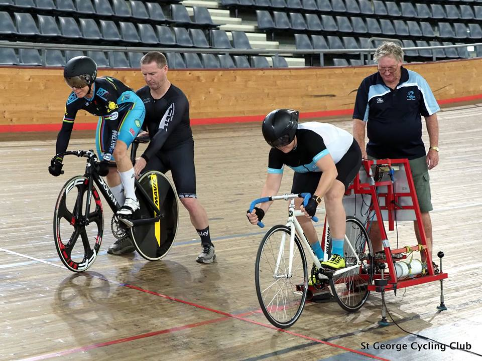 NSW Masters Championship Report @ 25 March    Individual Pursuit - M2 … Jeremy Hopson (Silver), M5 … Randolph Baral (Bronre), M6 … Graham Cockerton (Bronze), M7 … Peter Verhoeven (Silver)    Sprint - M4 … David Browne 5th, W7 … Lise Benjamin (Gold)    Time Trial - W7 … Lise Benjamin (Gold), M2 … Jeremy Hopson (Bronze), M4 … David Browne (5th), M7 … Randolph Baral (7th)    Points - M2 … Jeremy Hopson (6th), M4 … David Browne (Bronze), M6 … Graham Cockerton (Silver), W7 … Lise Benjamin (Gold)    Scratch - W7 … Lise Benjamin (Gold), M4 … David Browne (Silver), M6 - Graham Cockerton (Silver), M7 … Peter Verhoeven (Bronze)    Team Sprint - TBC
