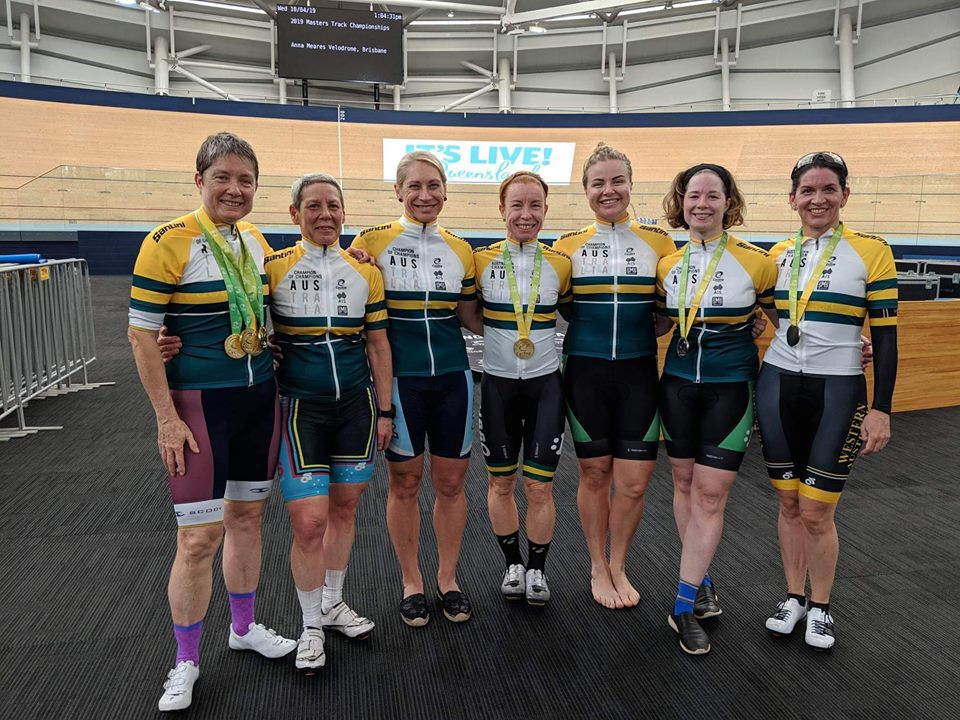 National Masters Track Championships 2019  - Lise Benjamin (BiciSport W7) was awarded the W7 Champion of Champions Jersey