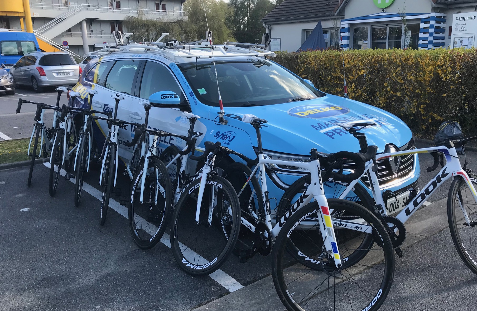 Delko Team @ 13 April -  Look team bikes prepared for Sunday. Photo MOR