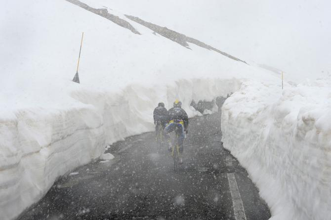 Giro D'Italia 2019 - the Gavia Pass last week is looking somewhat snowbound. Lets hope it opens for the grand stage on Tuesday but chances now look slim.