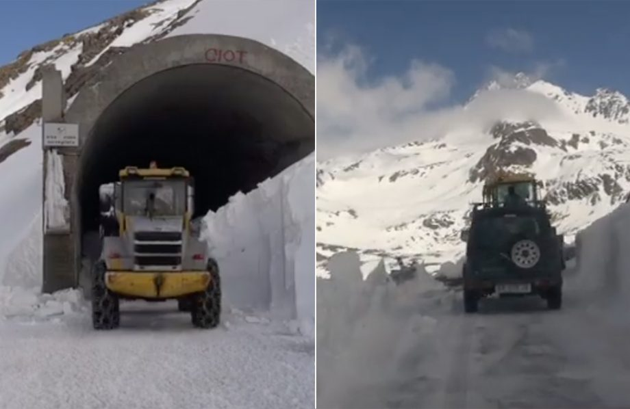 Giro D'Italia 2019 - work continued on the Gavia Pass last week to clear the snow