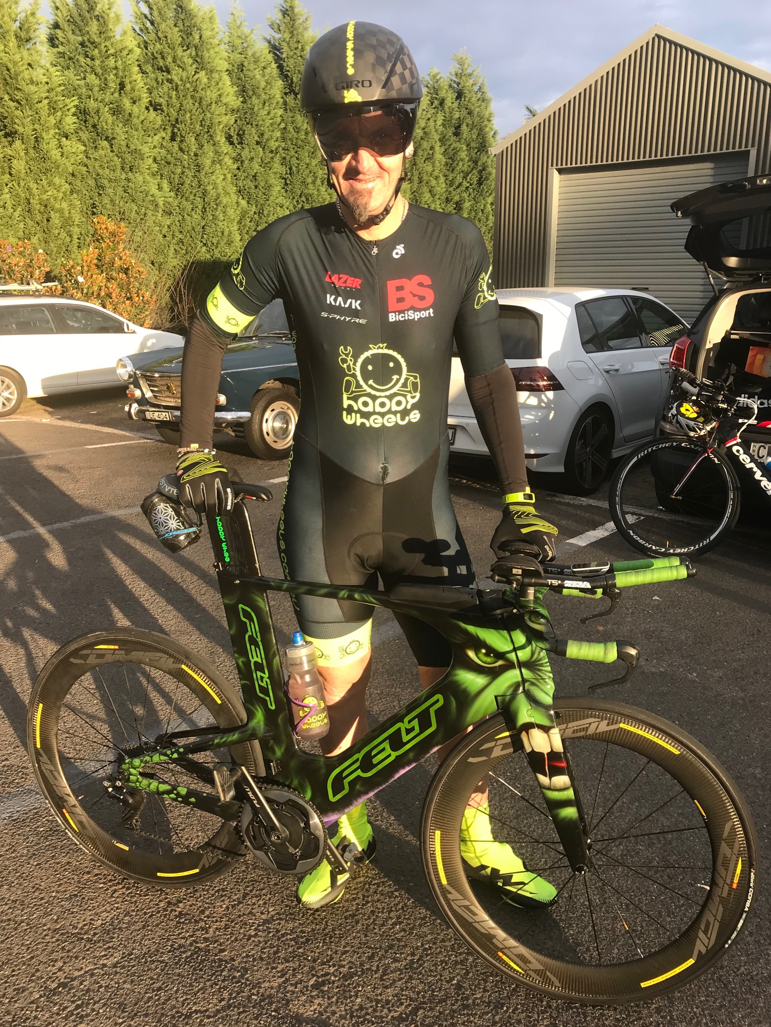 BiciSport TTT Training @ Terrey Hills @ 26 May - Stewart Campbell with the Green Beast