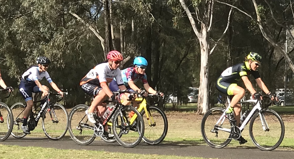 Metropolitan Championships @ Penrith Lakes @ 6 July - W4 category and Ruth Strapp (BiciSport Happy Wheels) chasing the racing miles in preparation for the UCI World Masters Road Championships in Poland in September 2019.