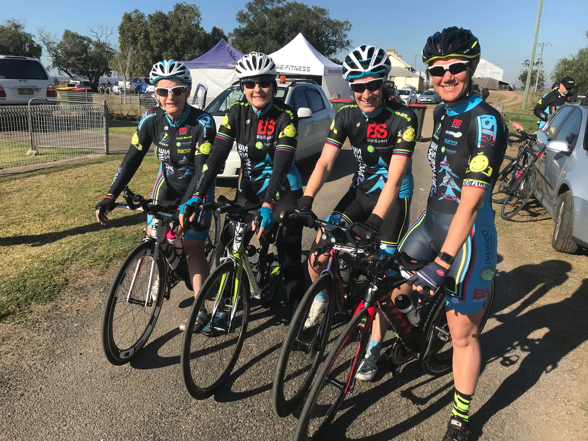 NSW Team Time Trial @ 3 August - Kirsty Flanagan, Melissa Budd, Cat Haines & Ruth Strapp. Melissa had a mechanical at the 5k mark and the team rode well with 3 riders.