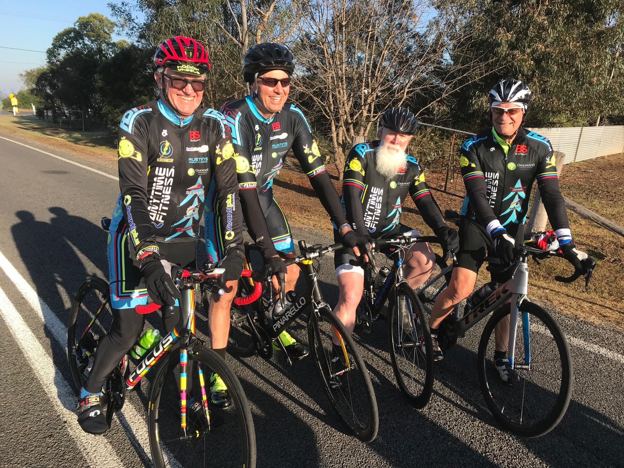 NSW Team Time Trial @ 3 August …. Peter Davis, Tony Jones, Bundy McLean & Tony Delgigante. Peter Davis got lost and was last seen riding towards Tamworth ….