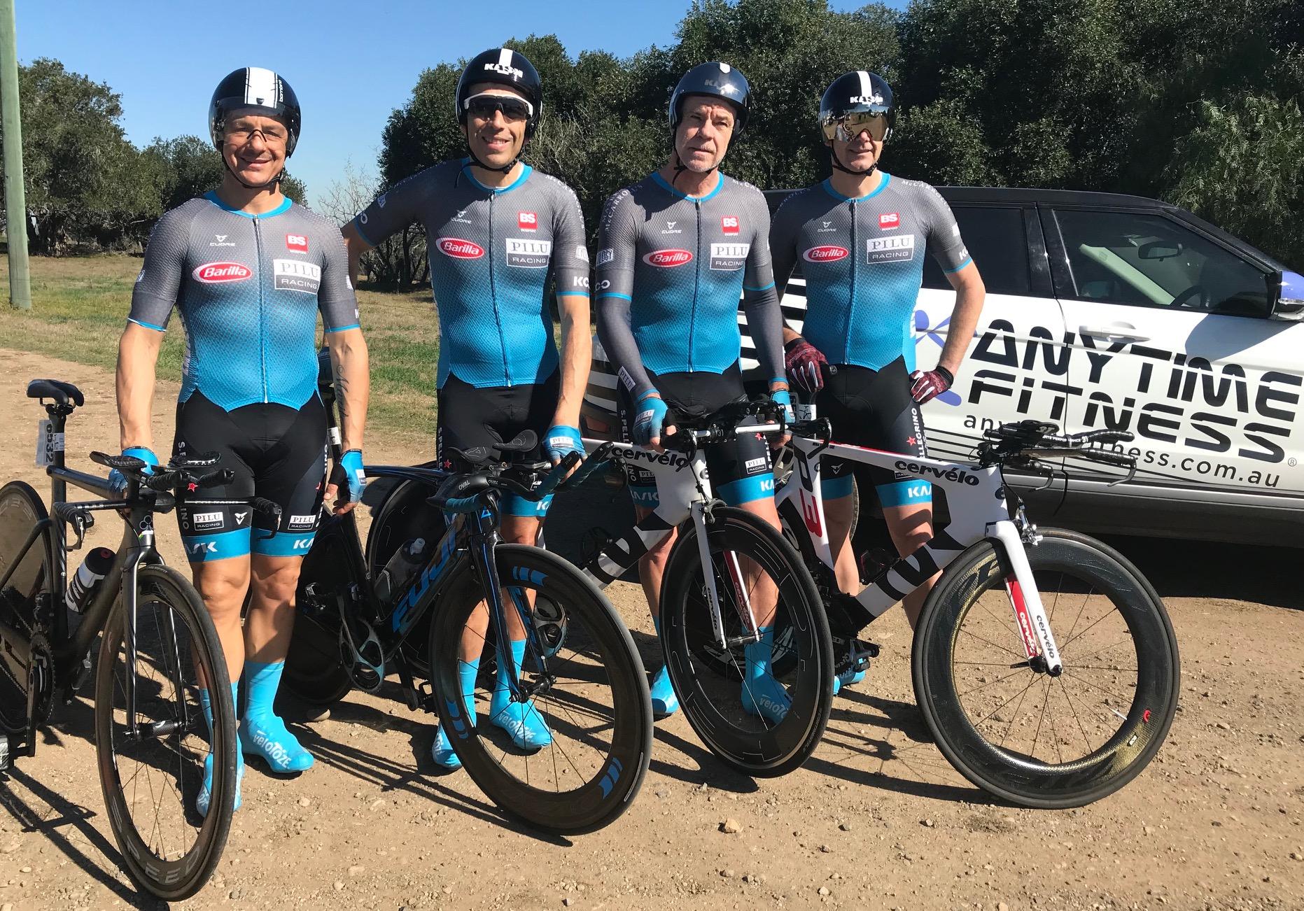 NSW Team Time Trial @ 3 August - Gio Pilu, Jordan Reizes, Matt Coy & Richard Bjorkmann