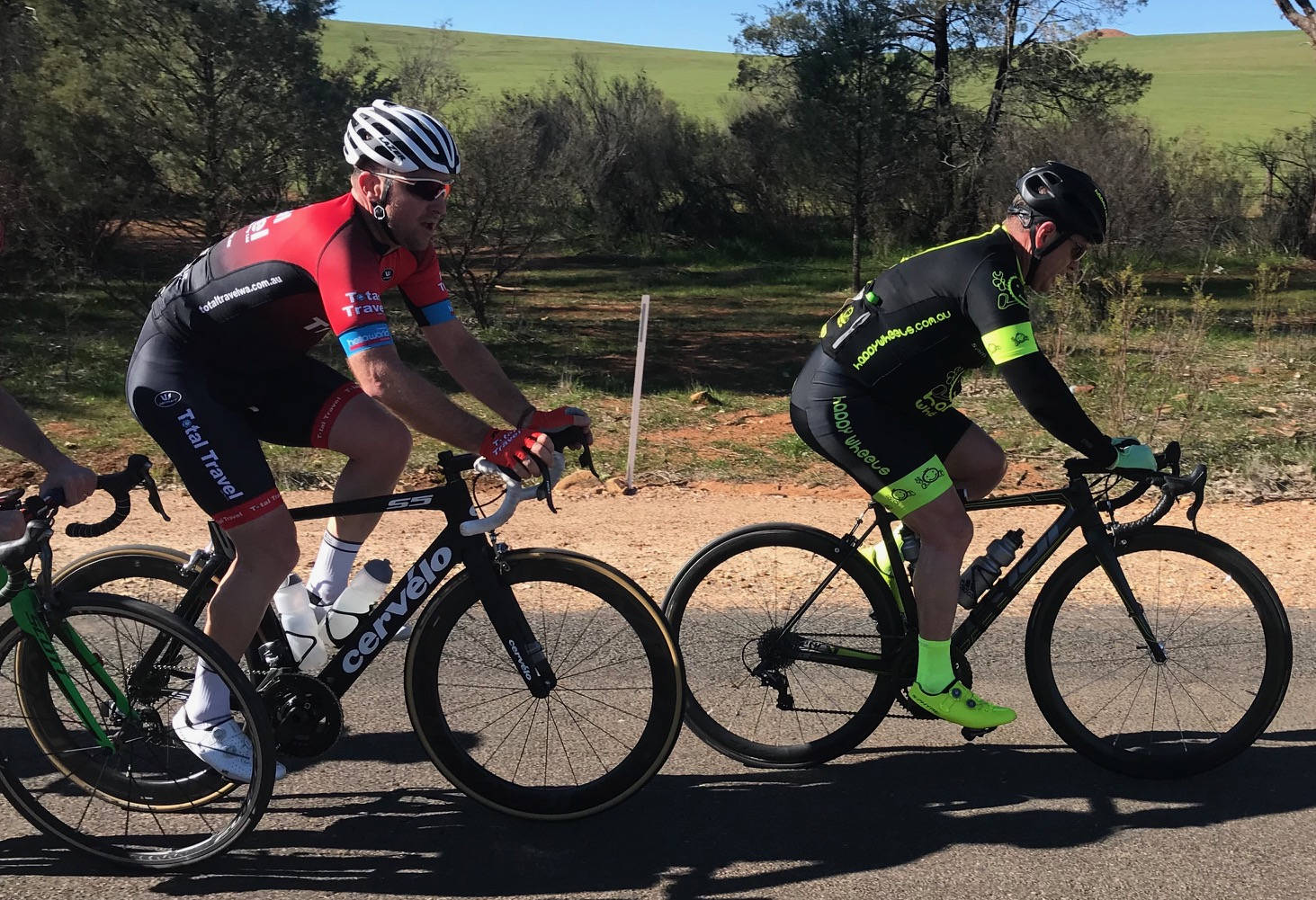 Cootamundra 115k Handicap @ 17 August - Peter Budd at the 80k mark just 2 minutes behind the lead riders