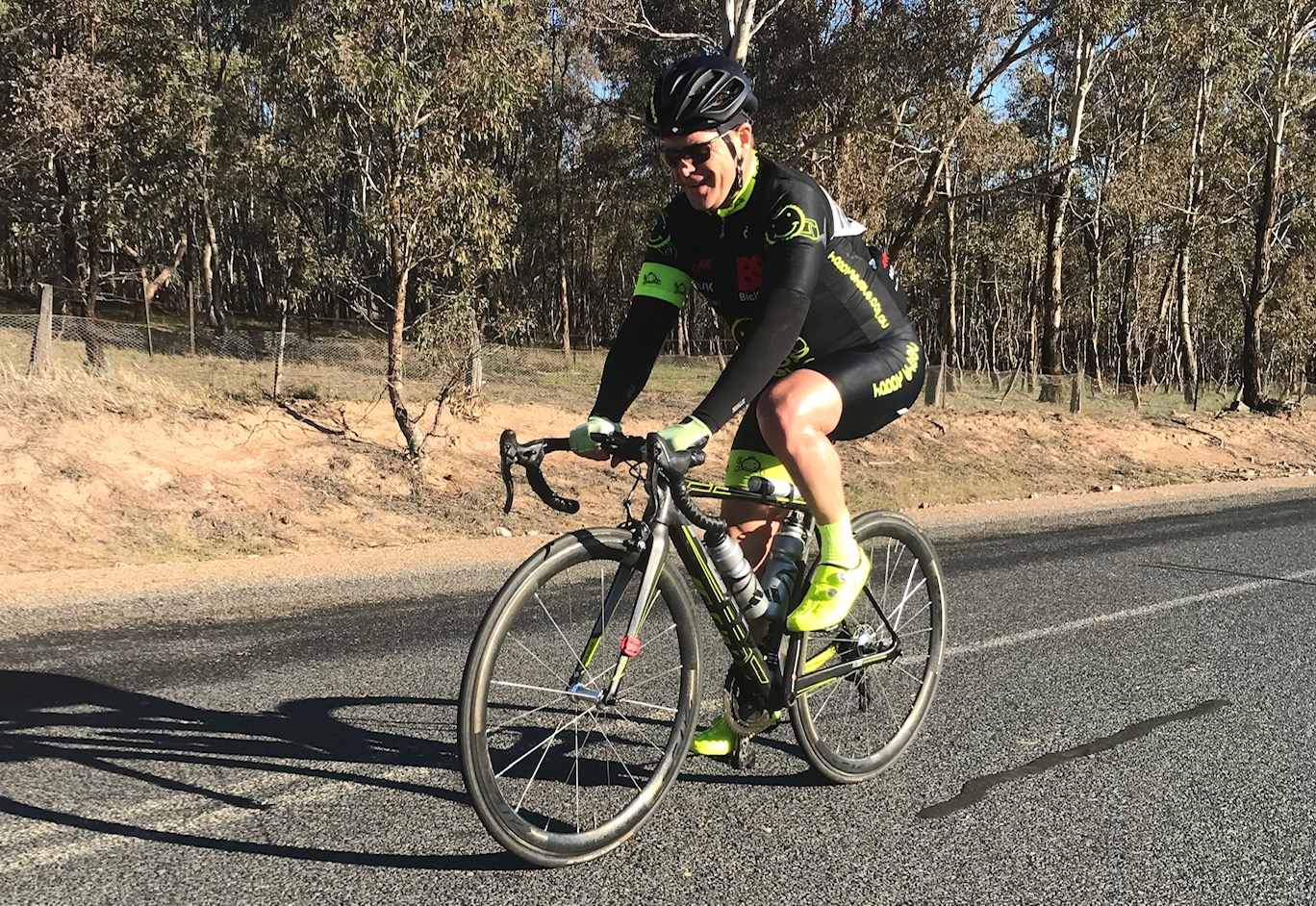 Cootamundra 115k Handicap @ 17 August - Peter Budd had a sniff of the lead group at the 80k mark but settled for 57th