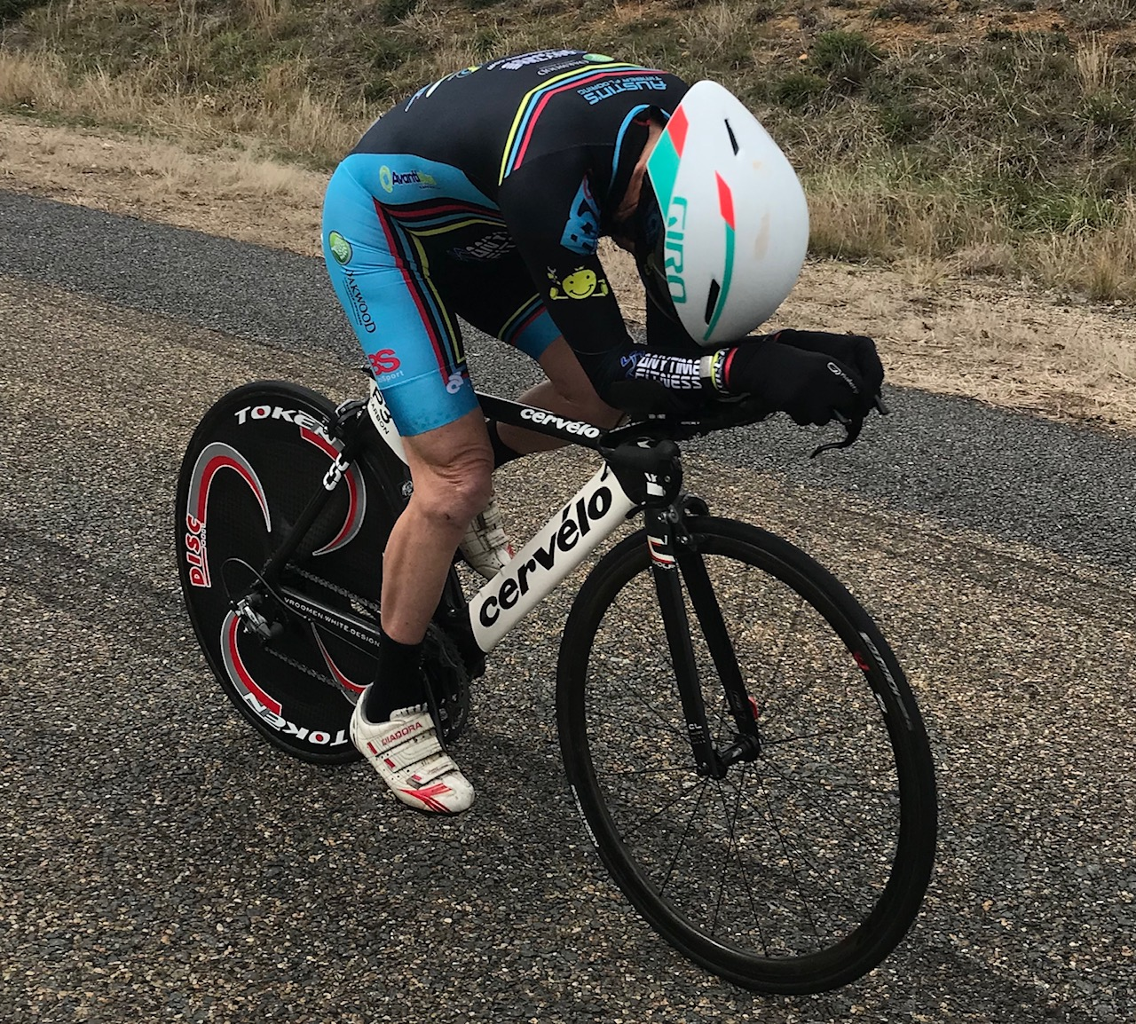NSW Masters ITT Championships @ Gunning @ 7 Sept - Mike Lawson (Masters M7) on his way to 4th place (missing out on the podium by just 0.5secs)