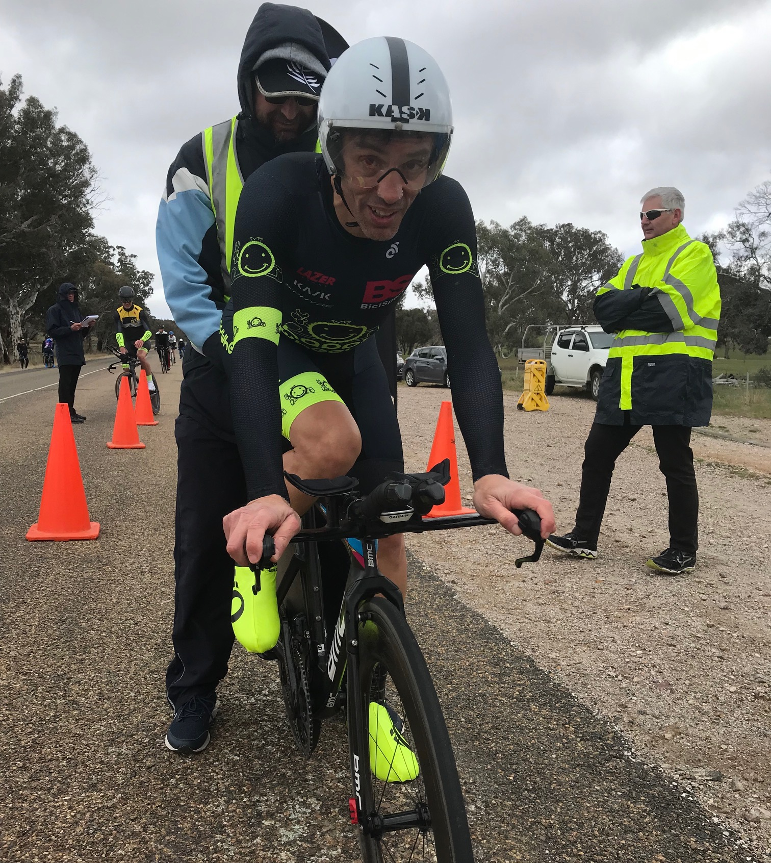Masters ITT Championships @ Gunning @ 7 Sept - Randolph Baral on the start line & headed for 5th place in M5
