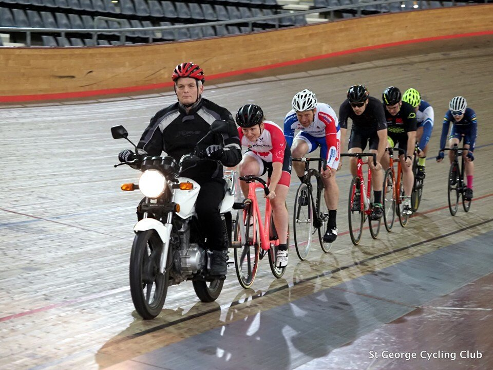 RAW Track @ DGV @ 13 Sept - Davide van der Browne sitting 4th wheel in the motor paced event at DGV
