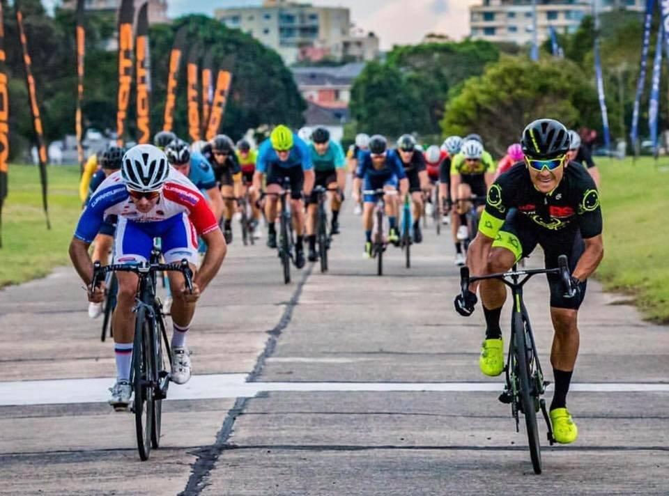 Rolly Delaytz (BiciSport Happy Wheels) is no stranger to winning a Heffron Park Tuesday night criterium