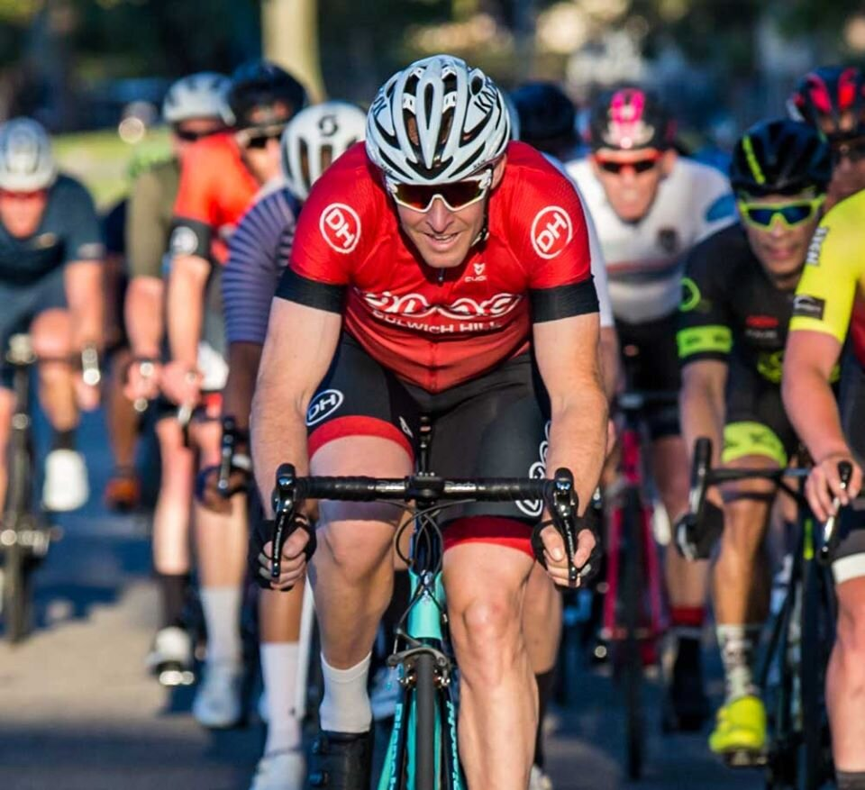 Heffron Park @ 22 Oct - Rolly Delaytz (BiciSport Happy Wheels) second right in the thick of the action