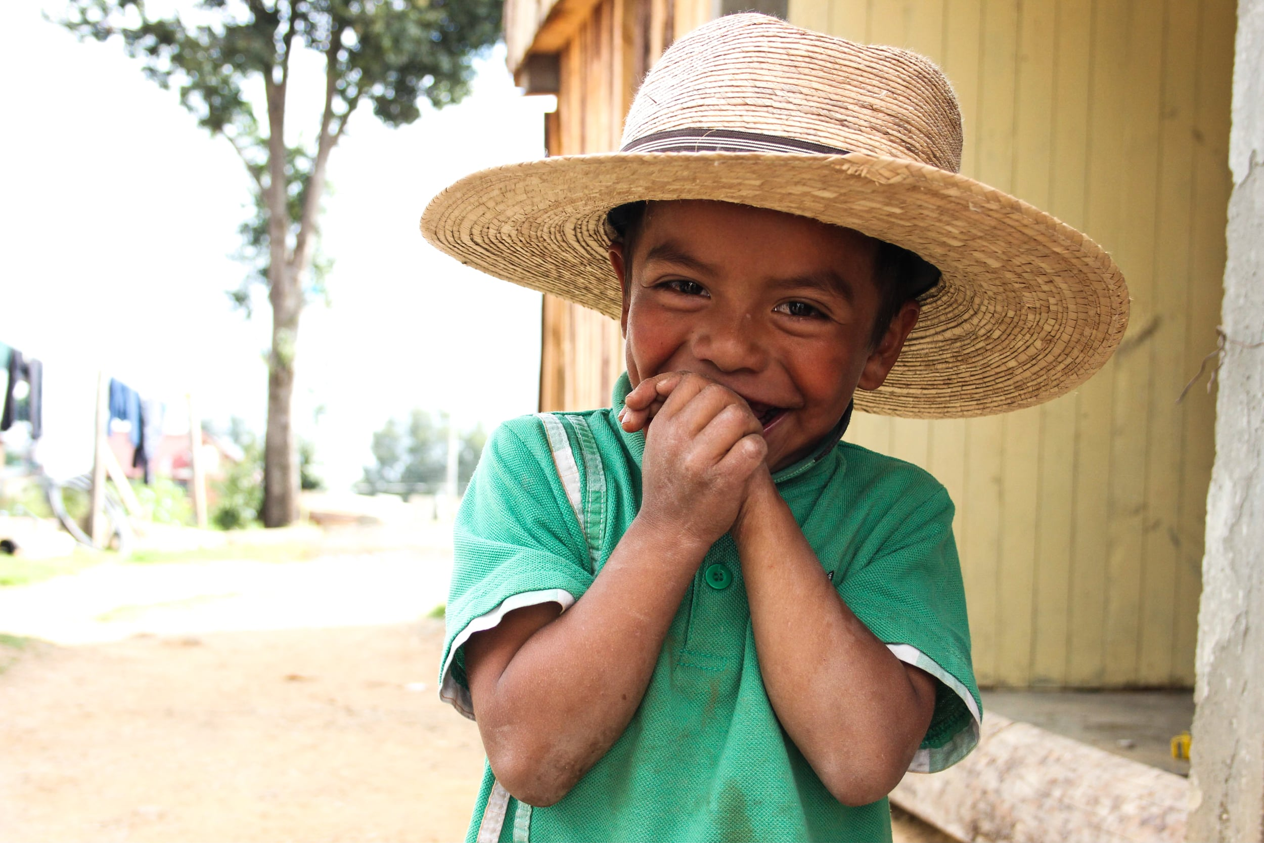 A child in San Jose del Pacifico, Mexico. This small town in the mountains is famed for hallucinogenic mushrooms. While tourists enjoy psychedelics, this child's family earns their living making corn tortillas.