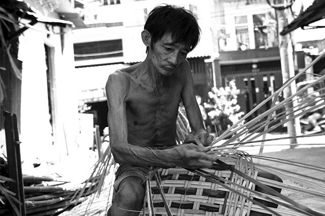 Basket making in Ho Chi Minh City, Vietnam.  #travelphotography #travel #hochiminhcity #basket #handcraft