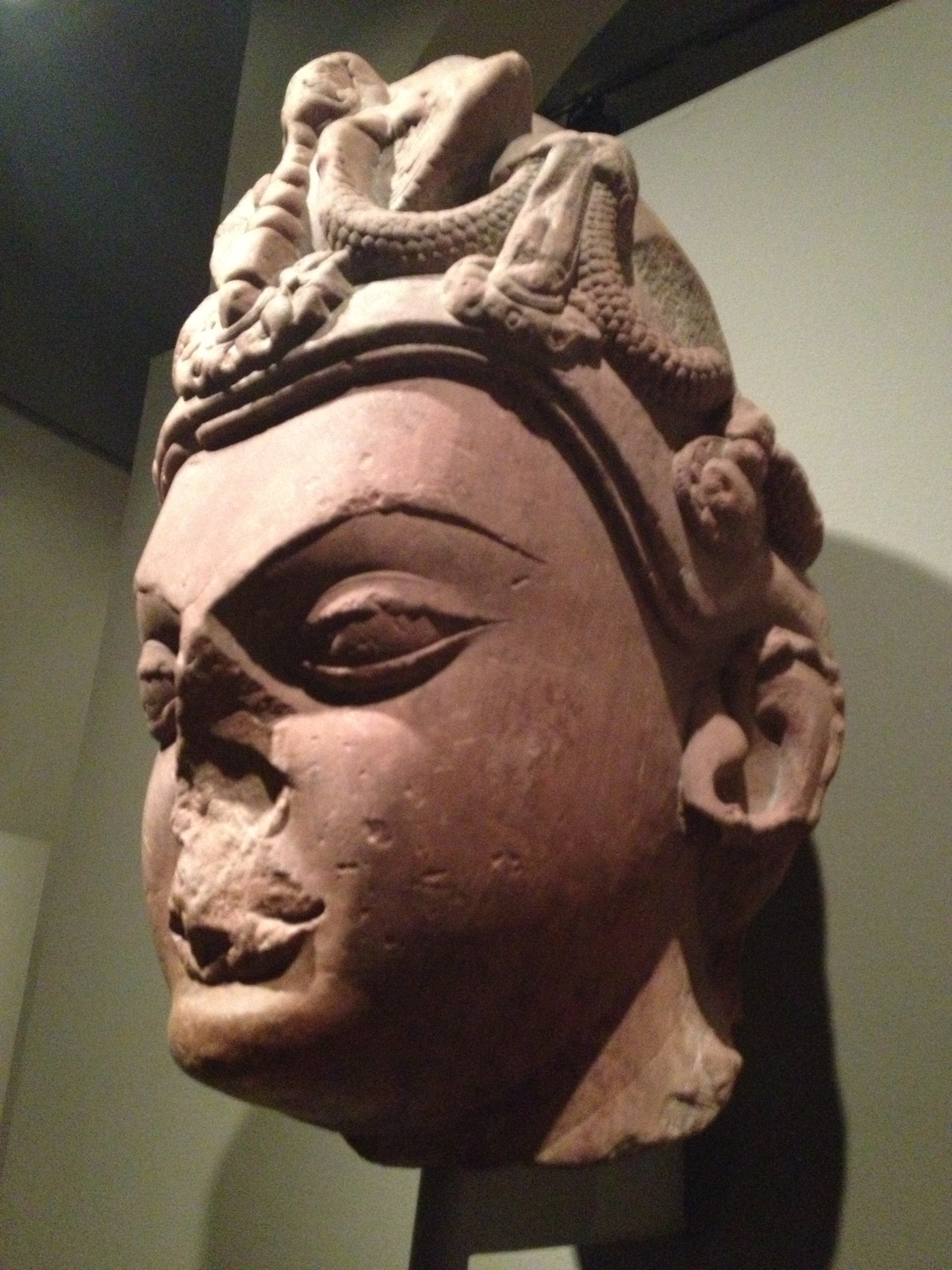 Part of a sculpture found in the room of ancient Asian art at the Nelson-Atkins museum.