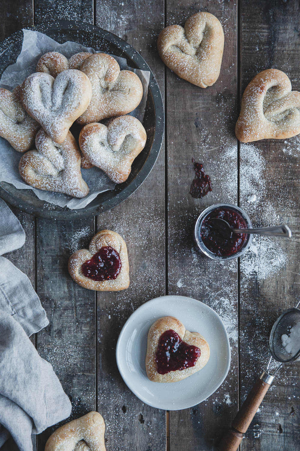 Heart-shaped cardamom buns for a Valentine's Day treat