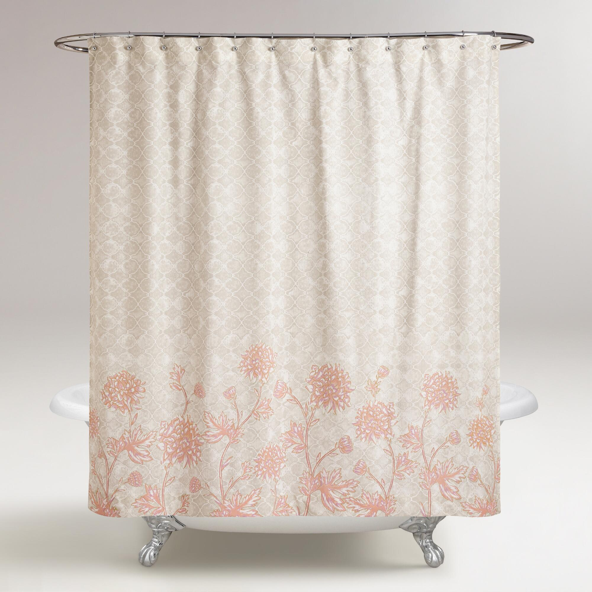Gray and Blush Floral FIona Shower Curtain from Wordlmarket.com.jpg