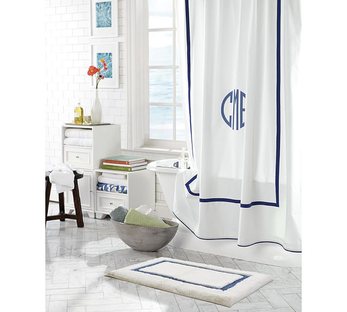 Morgan Banded Shower Curtain from Pottery Barn.jpg