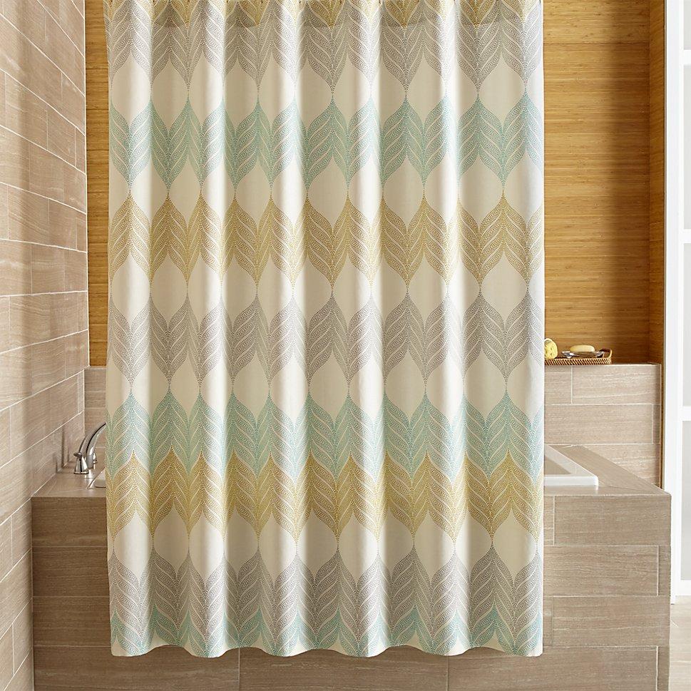 Sheesha Leaf Shower Curtain from Crate & Barrel.jpg