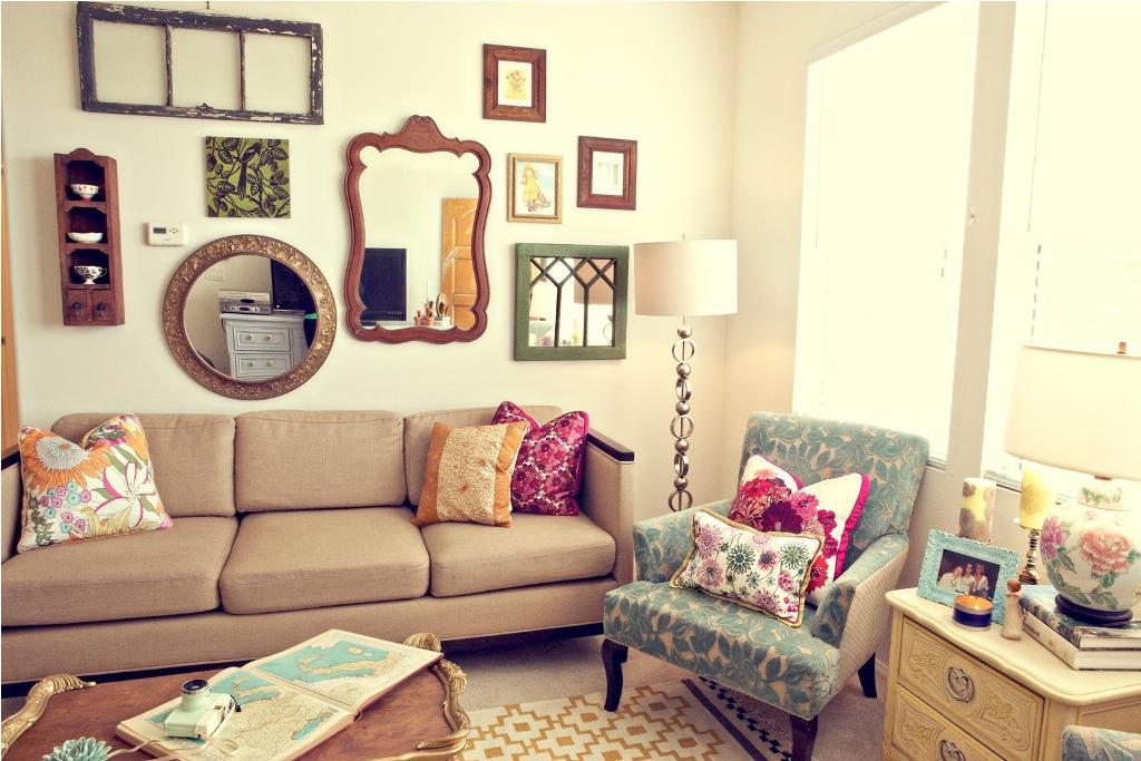 Mirror Gallery in Living Room
