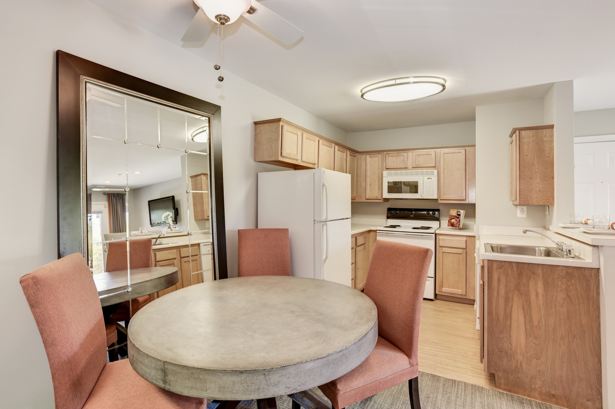 Fox Run Apartments in Edgewood, MD 21040: Fully Equipped Kitchen with Separate Dining Area