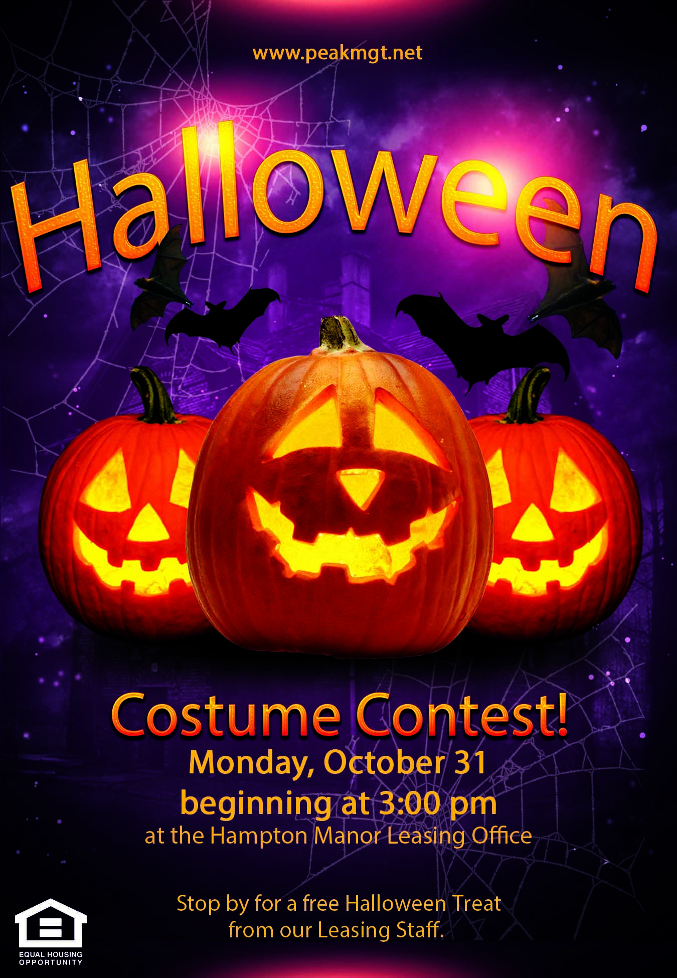 Halloween Costume Contest at Hampton Manor Apartments & Townhomes in Cockeysville, MD