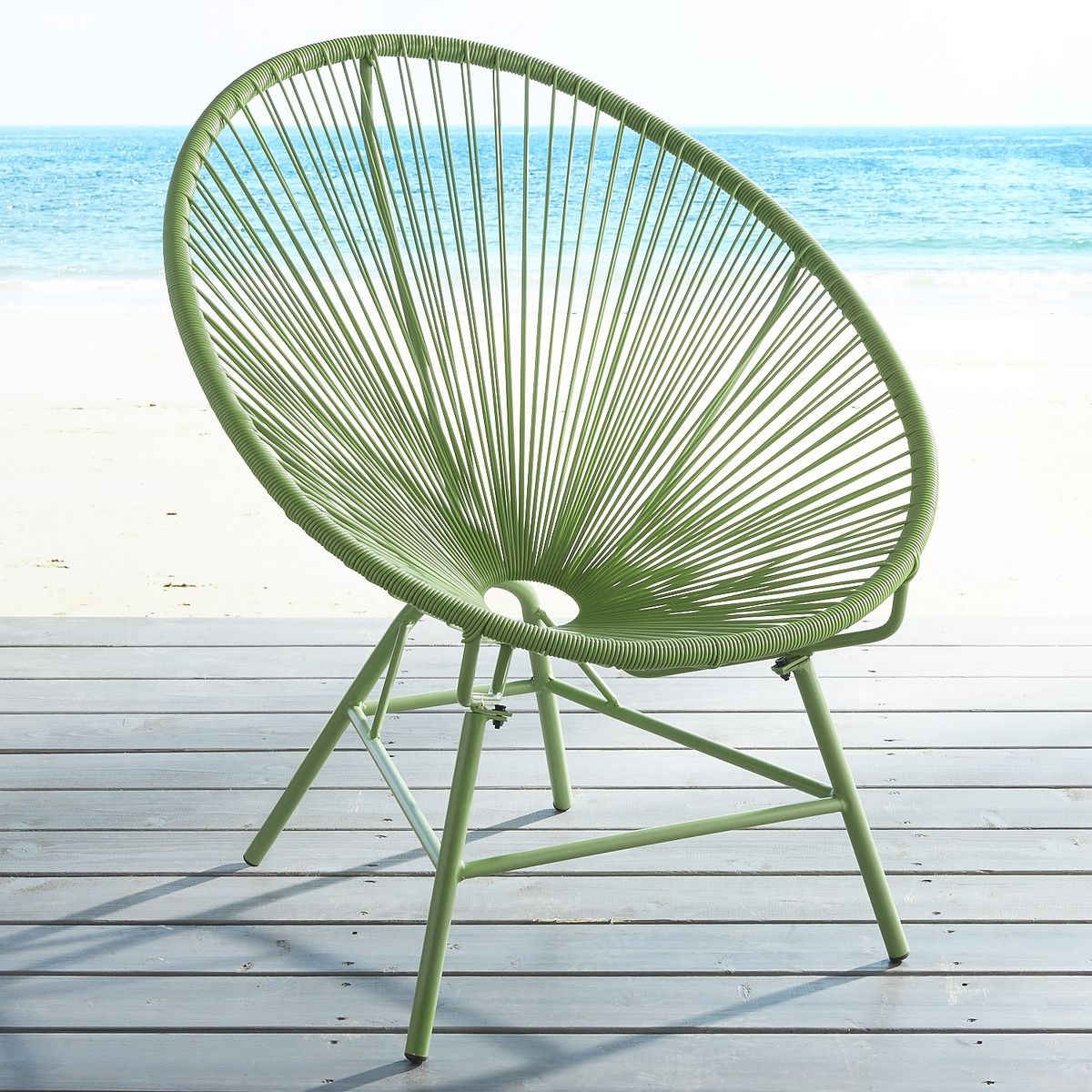 14 - Pier 1 Green Luca Chair.jpg