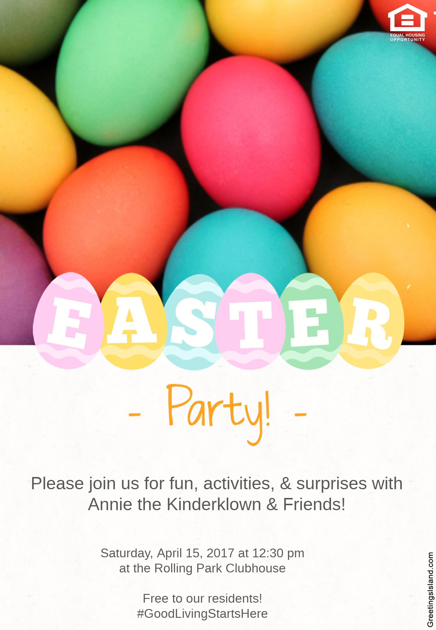 Rolling Park Apartments Easter Party in Windsor Mill, MD