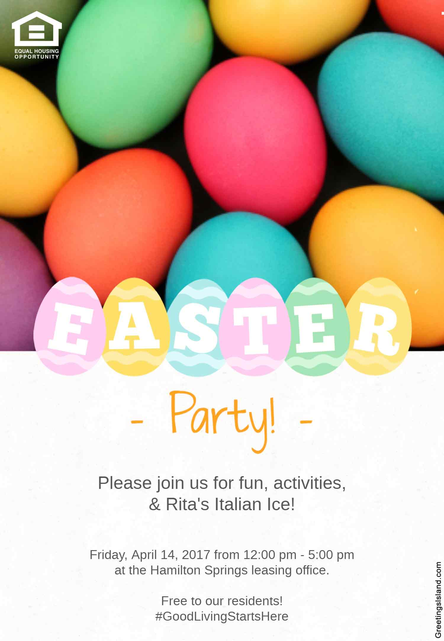 Hamilton Springs Apartments Easter Party in Baltimore, MD