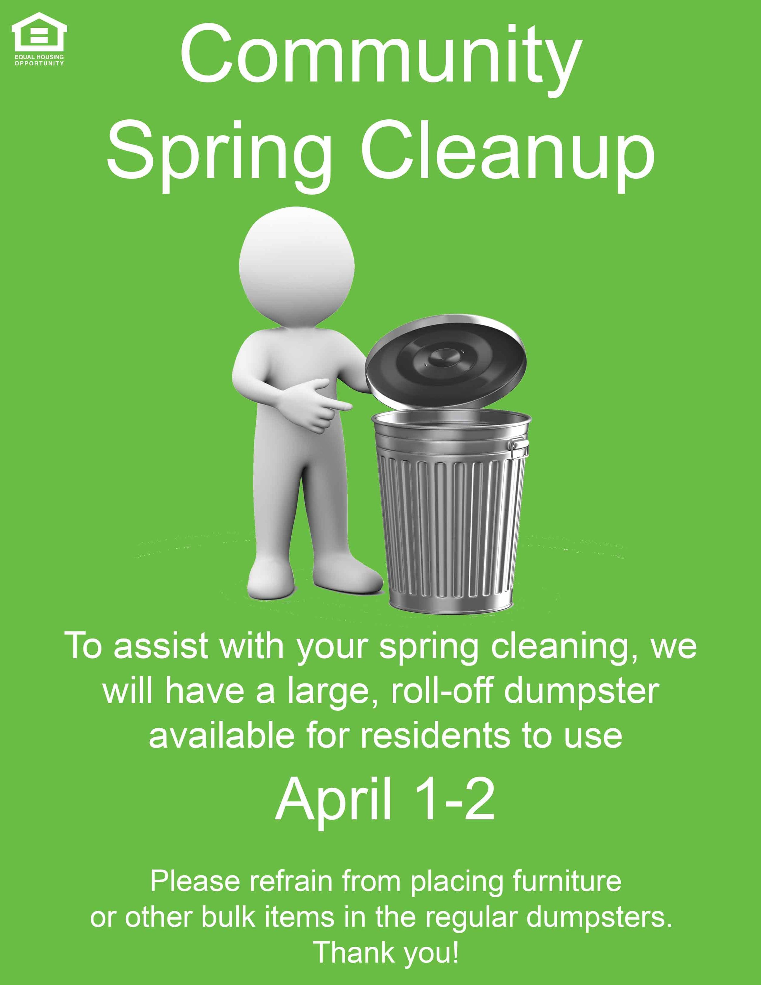 Spring Cleanup at Hallfield Apartments & Olde Forge Townhomes in Nottingham, MD
