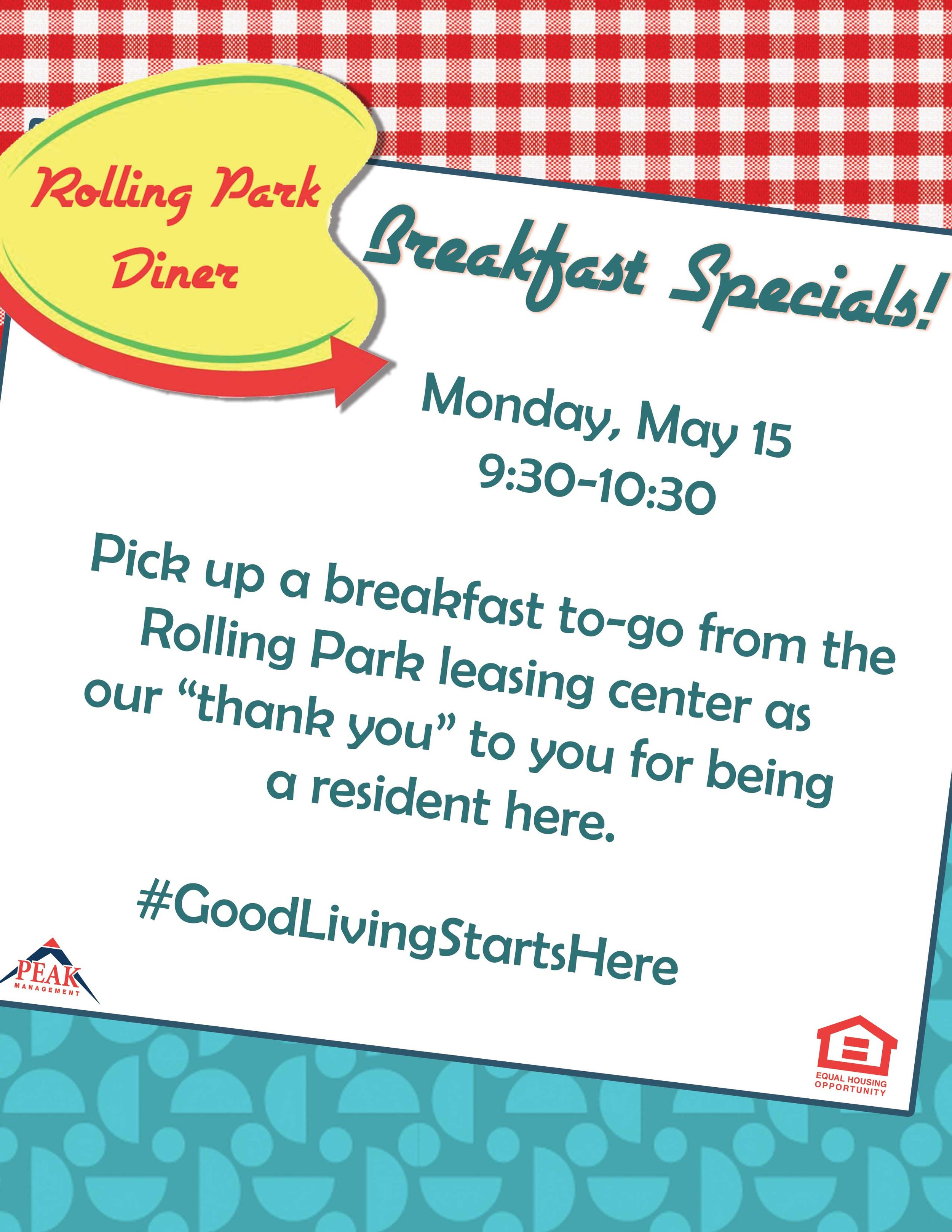 Breakfast on the Go at Rolling Park Apartments