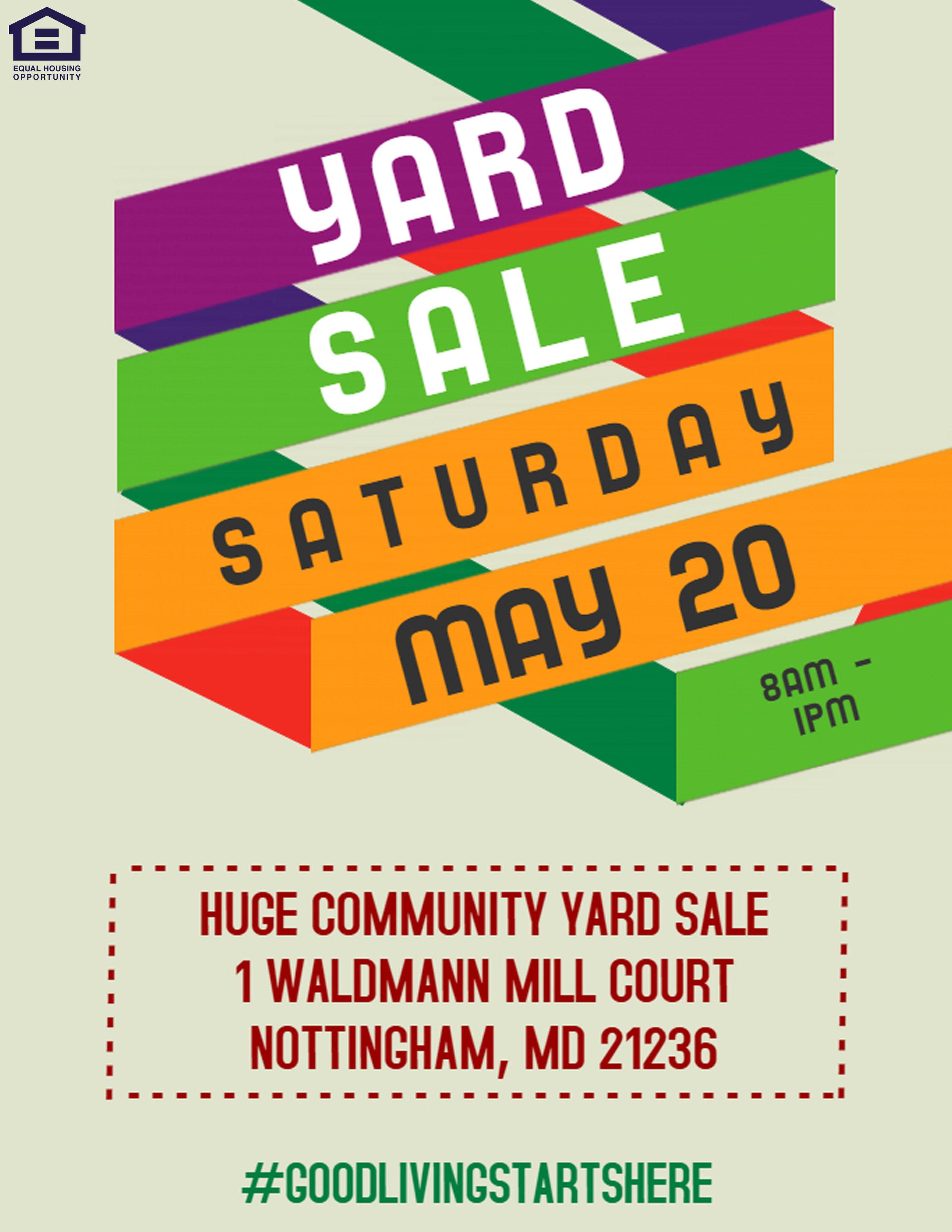 Community Yard Sale in Nottingham, MD