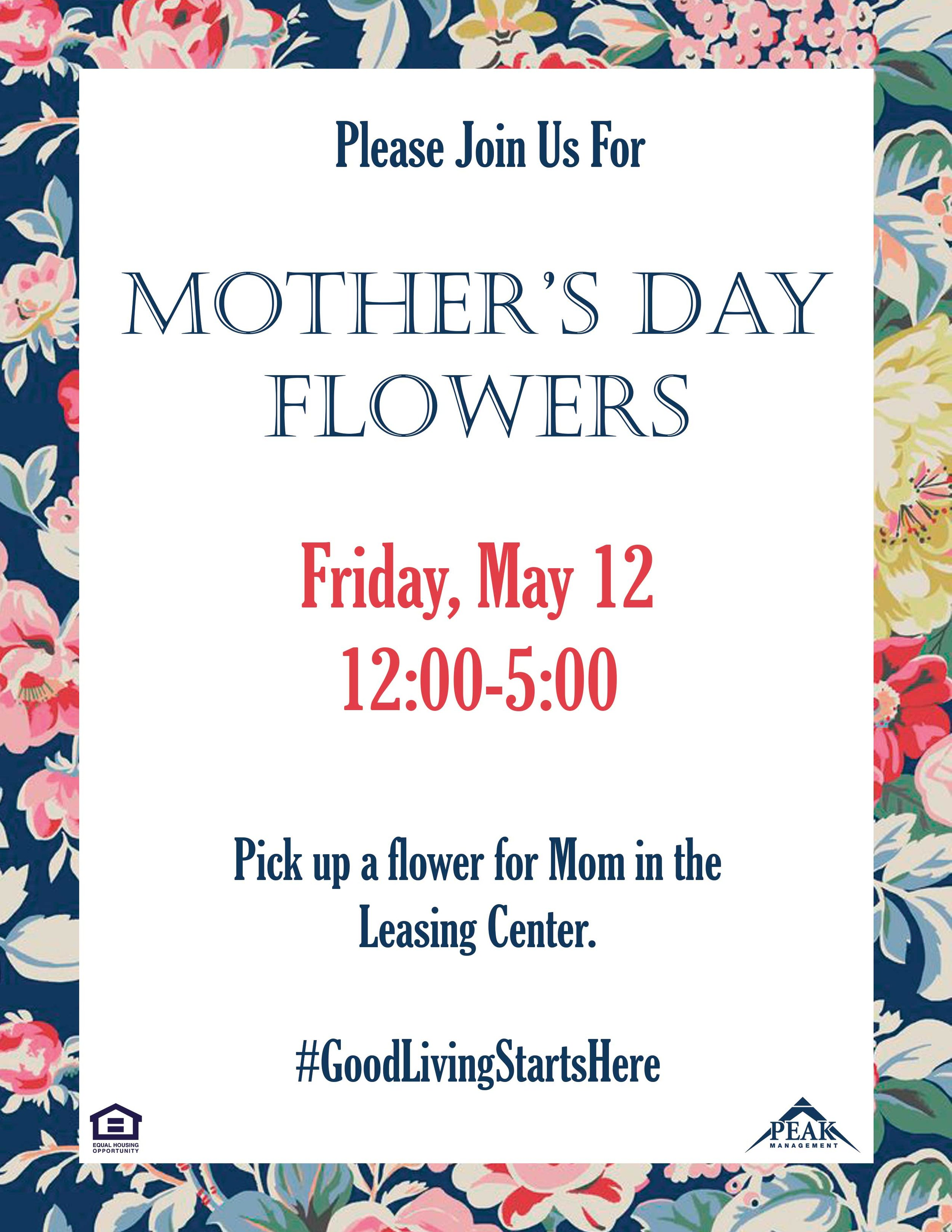 Mother's Day Flowers at Hamilton Springs Apartments in Baltimore, MD