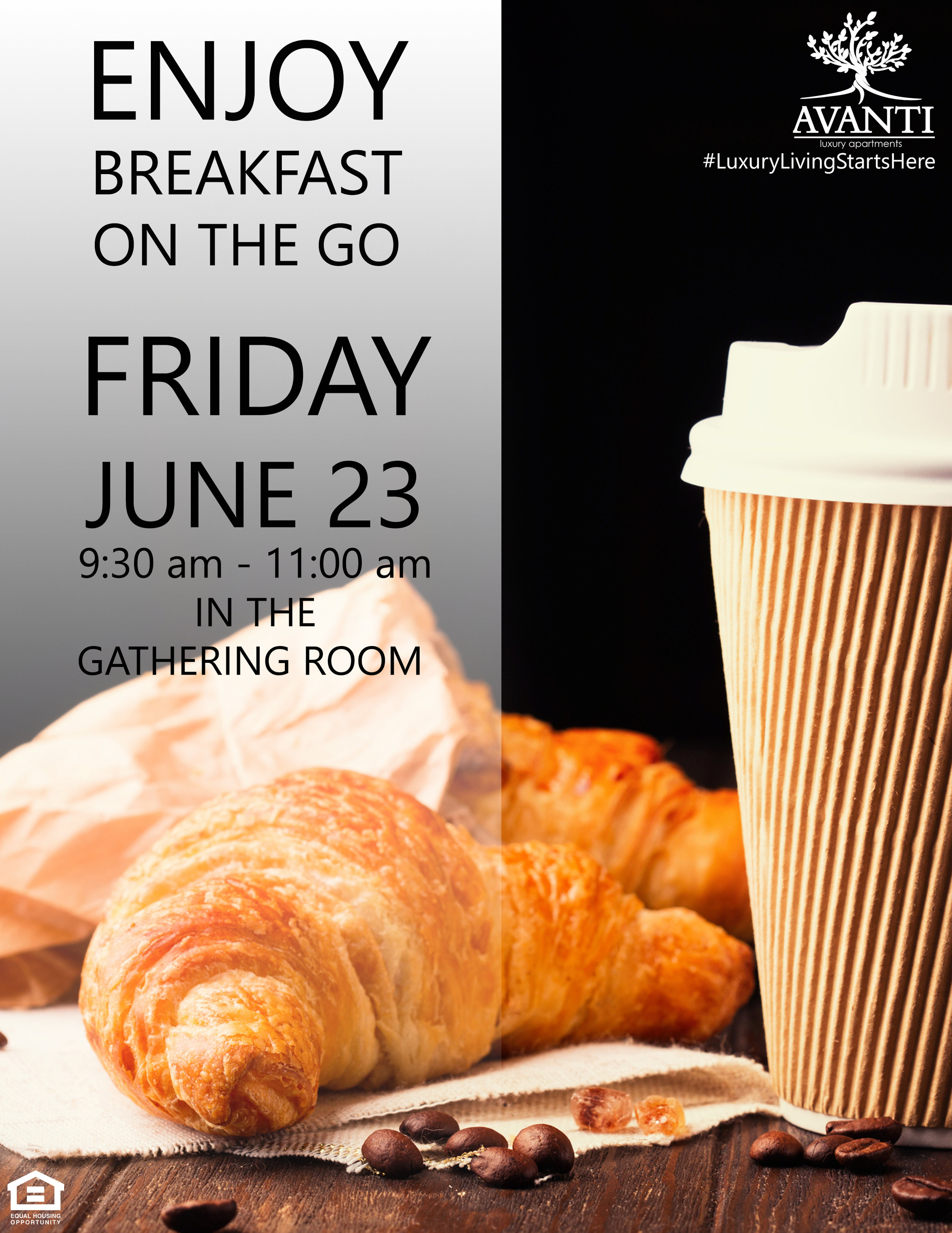 Breakfast on the Go at Avanti Luxury Apartments in Bel Air, MD