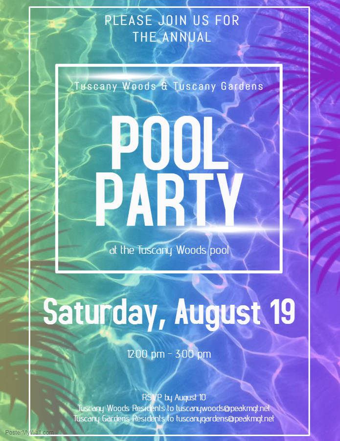 Community Pool Party at Tuscany Woods Apartments