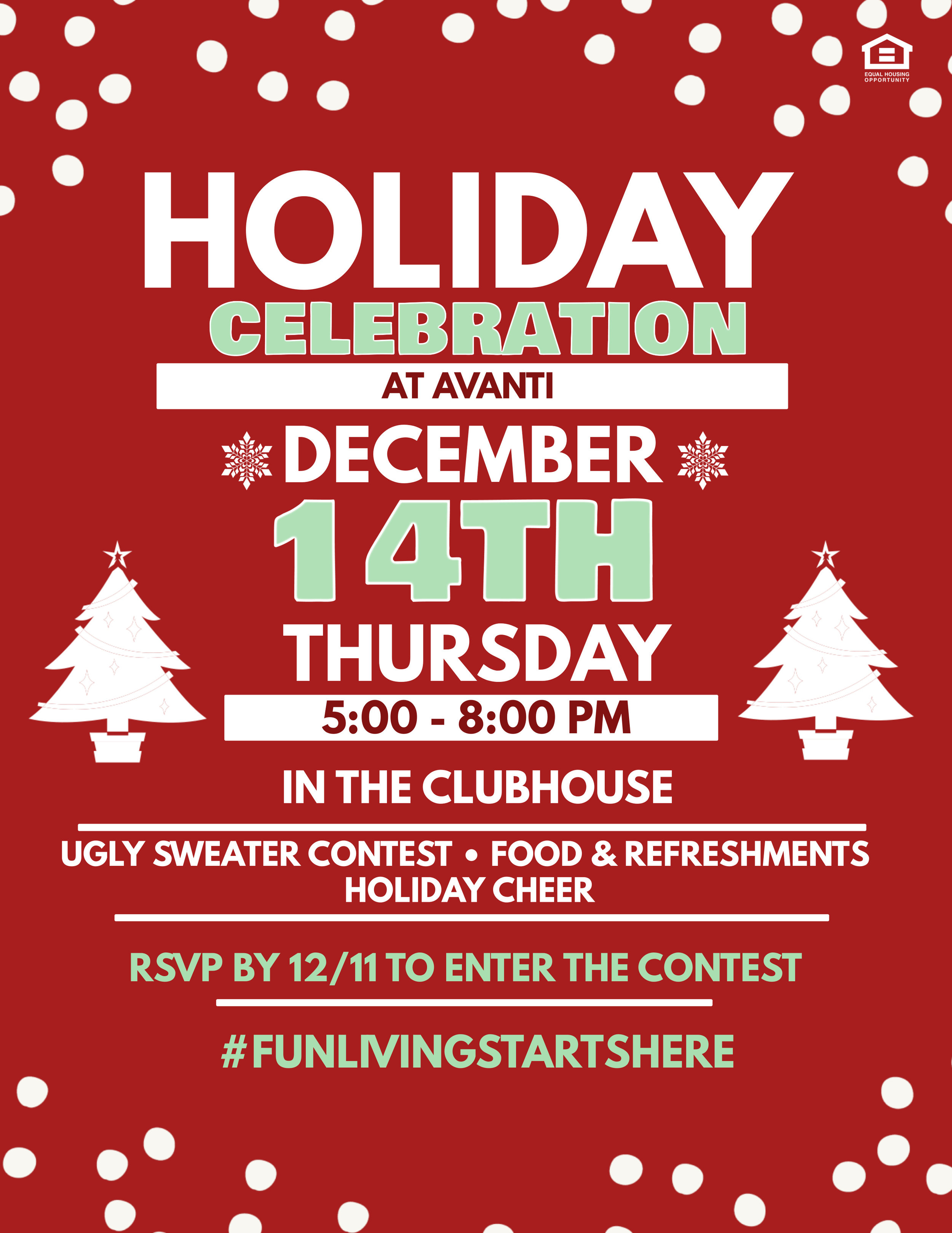 Holiday Celebration at Avanti Luxury Apartments in Bel Air, MD