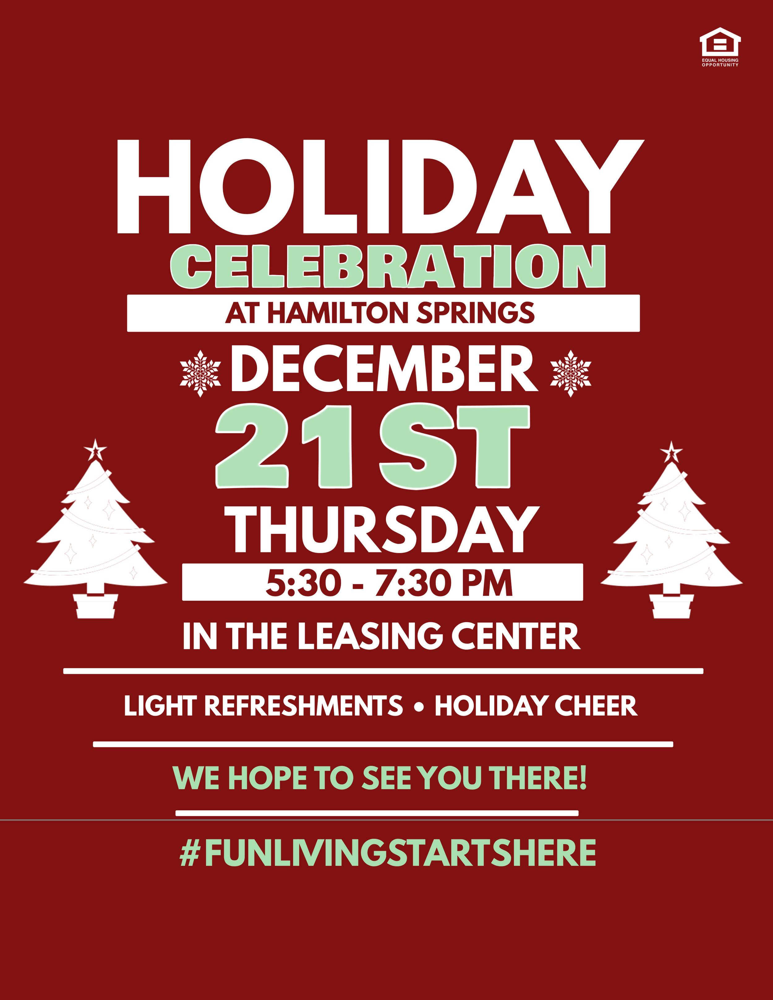 Hamilton Springs Apartments Holiday Celebration