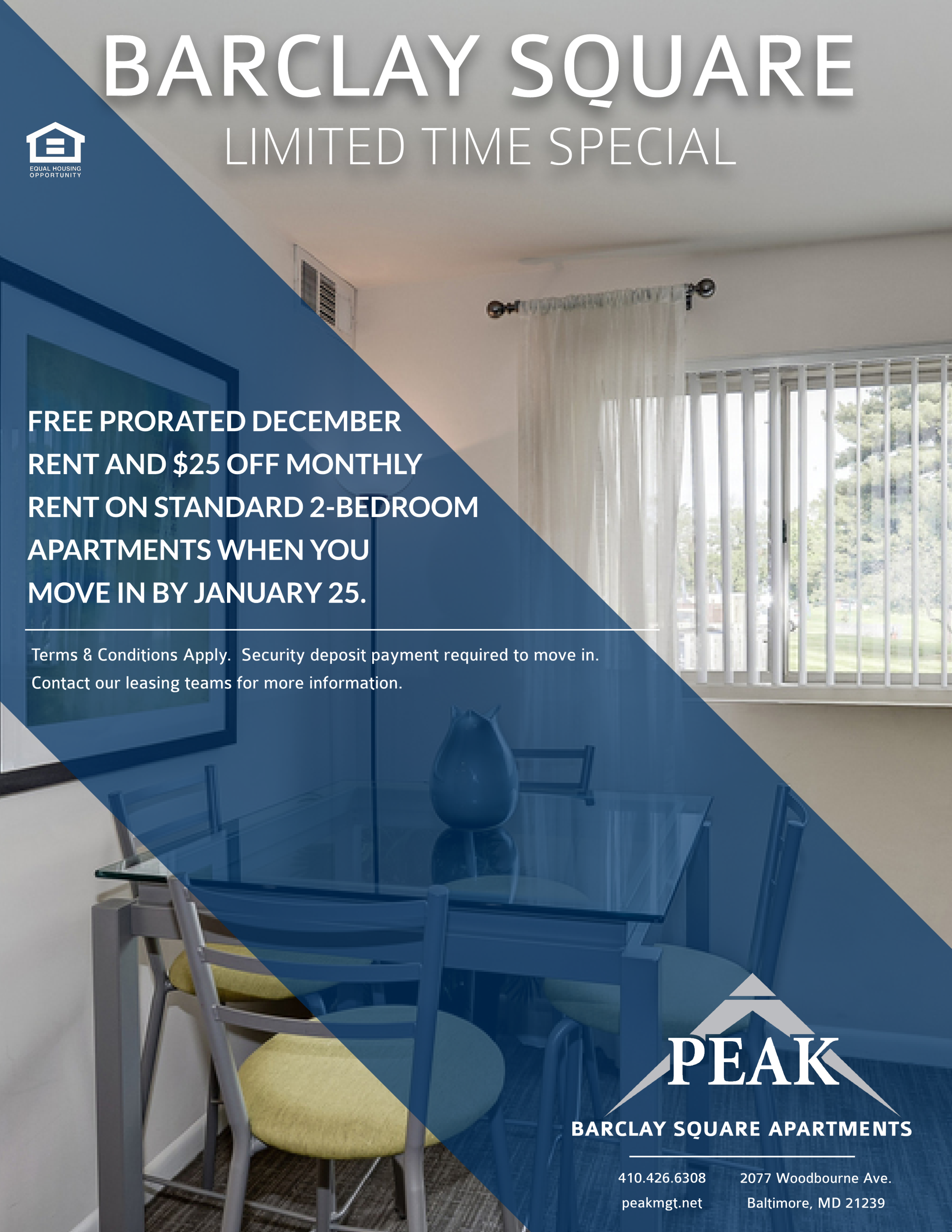 Barclay Square Apartments in Baltimore City January Rent Special