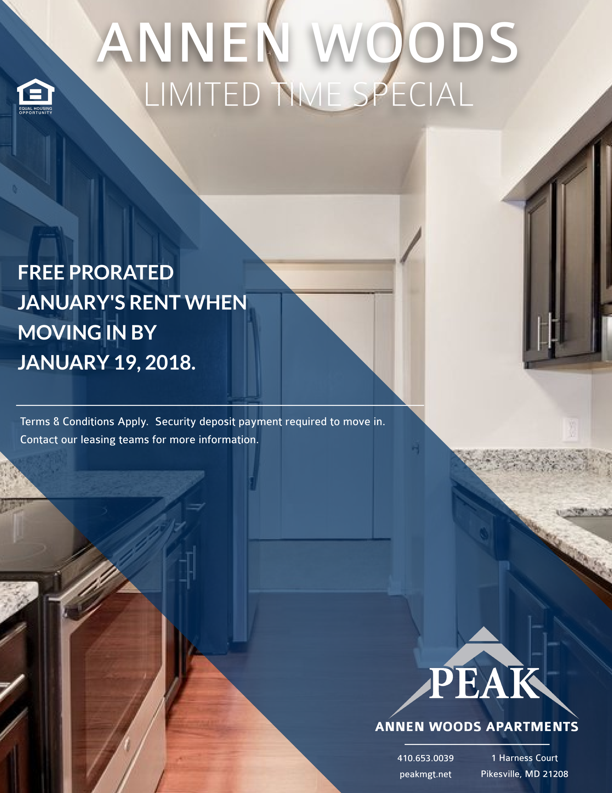 Annen Woods Apartments January Rent Promo - Pikesville, MD