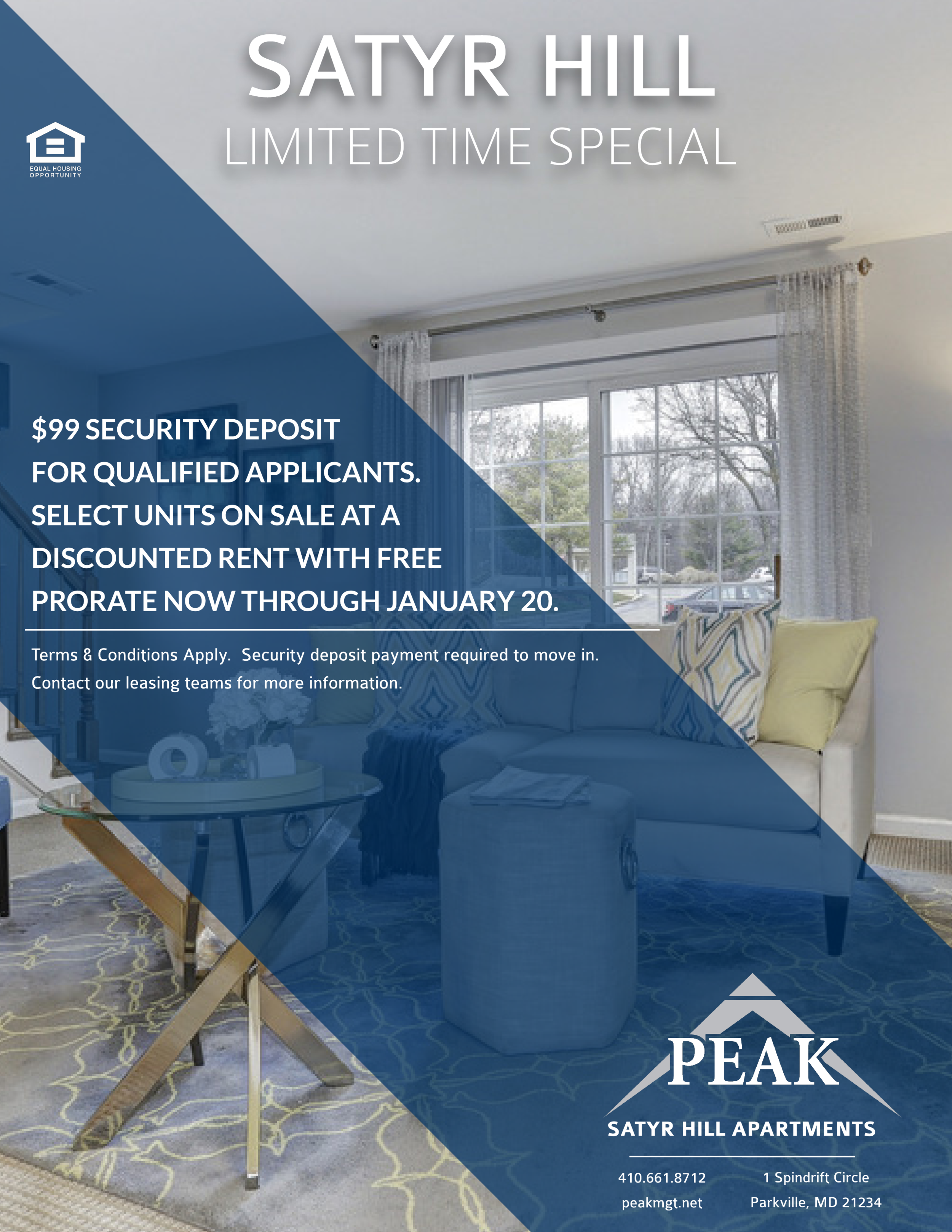 Satyr Hill Apartments in Parkville, MD January Rent Promotion