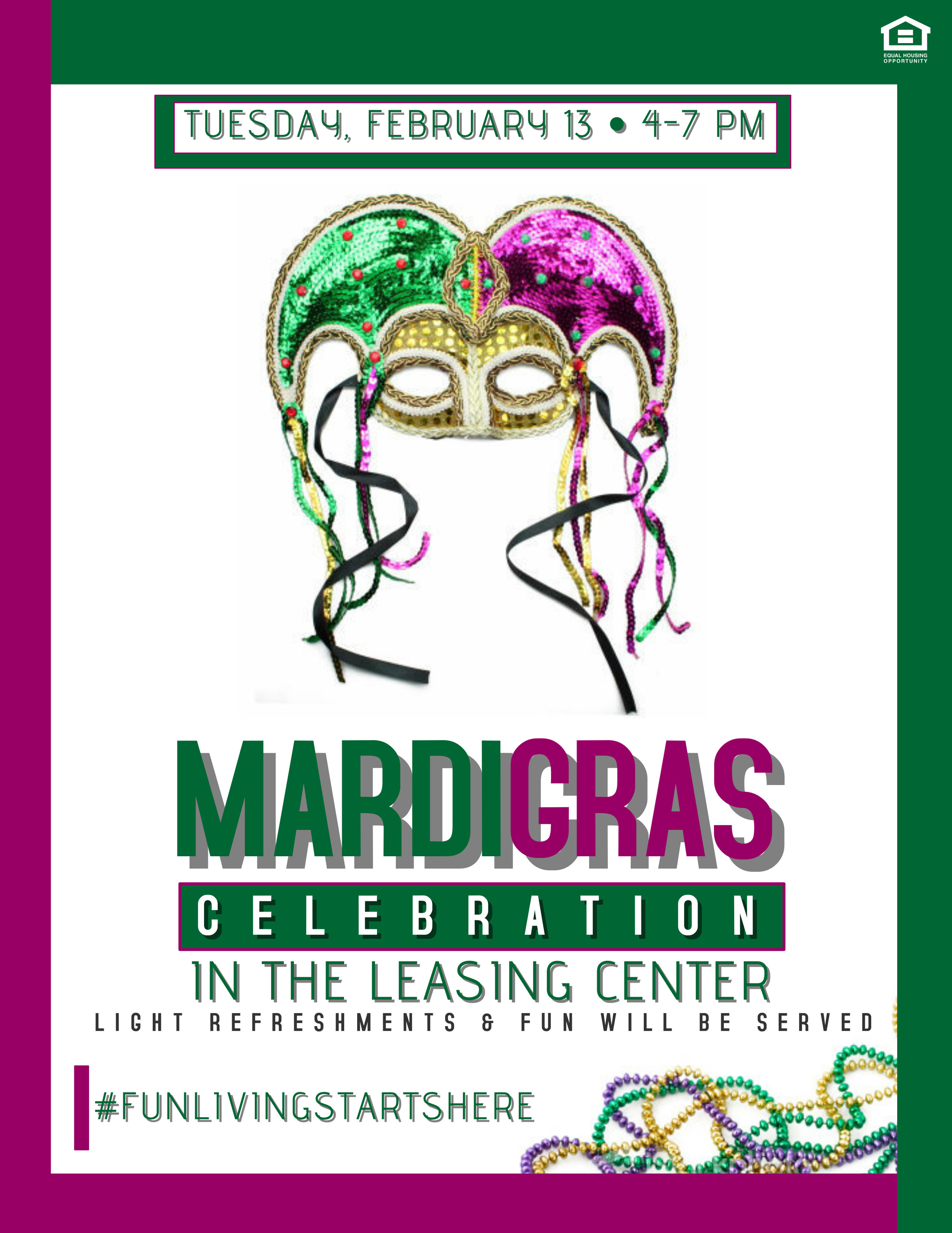 Rolling Park Apartments Mardi Gras Celebration 2018